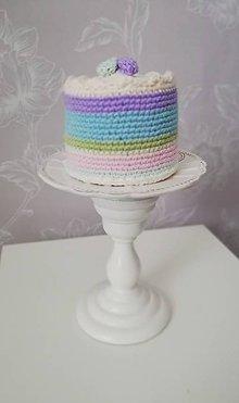 Hračky - Háčkovaná farebná tortička - 10663346_