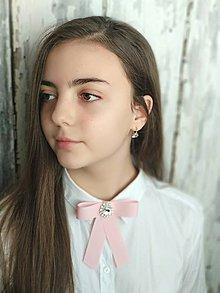 Náhrdelníky - Mašľa - pink - 10662354_