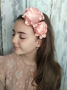 Ozdoby do vlasov - Čelenka- rose - 10662548_