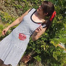Šaty - Bodkované s makom ... S/M - 10662728_