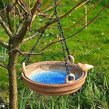 Dekorácie - Závěsné pítko s ptáčkem - 10660758_