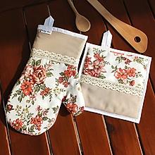 Úžitkový textil - set rukavica+chňapka Nostalgia - 10664423_
