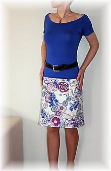 Sukne - Sukně z krásné rifloviny  vz.612 - 10662698_