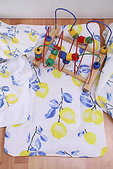 Detské doplnky - Akvarelová multifunkčná podložka pre deti - Citróny - 10663429_