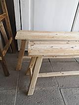 Nábytok - lavica I. / príručný stolík - 10663836_