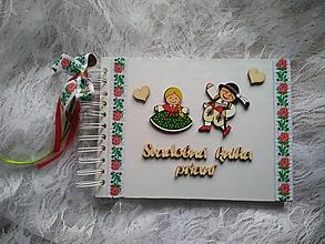 Papiernictvo - folklórna svadobná kniha prianí pre hostí - 10661926_