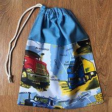Úžitkový textil - Vrecko na prezuvky kamióny2 - 10663507_