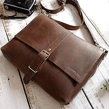 Tašky - Dean - pánska kožená taška - 10660504_