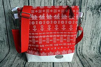 Kabelky - Crossbody kabelka vo folkórnom štýle - 10661199_