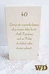 Krabičky - Krabička na víno s venovaním - 10662339_