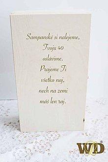 Krabičky - Krabička na víno s venovaním - 10662337_