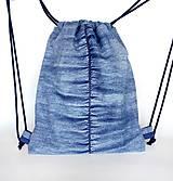 Batohy - Denim batoh s tajným vreckom + puzdro - 10662540_