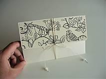 Papiernictvo - obálka (kvety, vtáky, motýle) - 10662614_