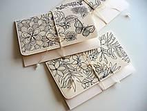 Papiernictvo - obálka (kvety, vtáky, motýle) - 10662623_