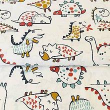 Textil - dinosaury, 100 % bavlna Francúzsko, šírka 150 cm - 10660636_
