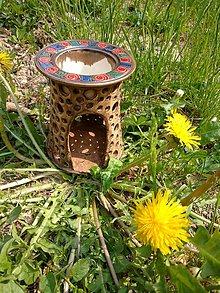 Svietidlá a sviečky - Aromalampa Temelín voluty - 10661710_