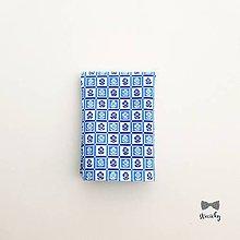 Doplnky - Pánska vreckovka do saka - Modrokvietok - 10660998_