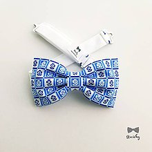 Doplnky - Pánsky motýlik - Modrokvietok - 10661091_
