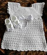 Detské oblečenie - Šaty biele +papučky - 10662561_