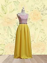 Šaty - Dlhé spoločenské šaty s folklórnym pásom a vreckami - 10661227_