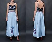 Sukne - modrá sukňa Poľana - 10663765_