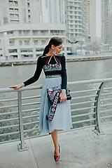 - modré plisované šaty Poľana - 10663813_