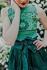 Sukne - zelená sukňa Poľana - 10664101_