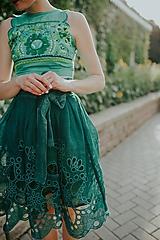 Sukne - zelená sukňa Poľana - 10664104_