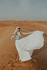Šaty - plisované šaty so zelenou výšivkou Poľana - 10664389_