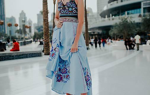 modrá sukňa Poľana