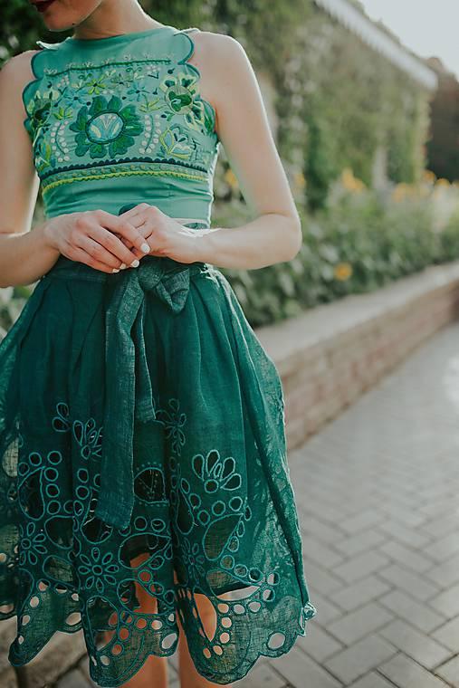 zelená sukňa Poľana