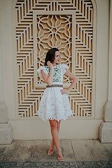 Šaty - biele madeirové šaty Poľana - 10664161_