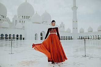 Šaty - plisované dlhé šaty Poľana - 10664312_