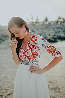 Šaty - plisované dlhé šaty Poľana - 10664376_