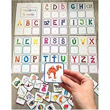 Hračky - Obrázková Abeceda - Suchý zips - 10660935_