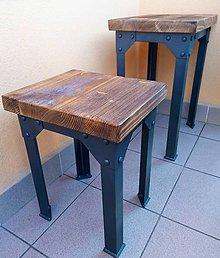 Nábytok - Industriálna balkónová súprava, Industriálny stôl, Industriálna stolička - 10662918_