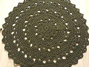 Úžitkový textil - Koberec tmavozelenej farby - 10664153_