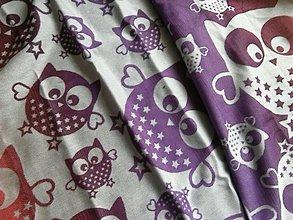 Textil - Natibaby Owls Purple - 10662087_