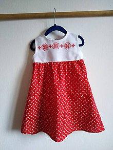 Detské oblečenie - Červené šaty Hanka - 10662619_