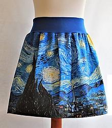 Sukne - sukňa - FINEART Van Gogh - Hviezdna noc - 10661672_