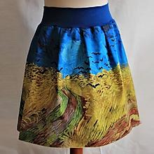Sukne - sukňa - FINEART - Van Gogh - Pšeničné pole a vrany - 10662088_