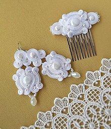 Sady šperkov - Romantický snehobiely šujtášový set - 10661089_