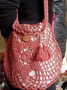 Kabelky - hačkovaná taška  ...  škoricová - 10663150_