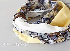 Šály - nákrčník-jesenné kvety - 10663086_