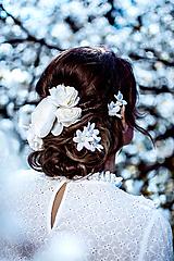Ozdoby do vlasov - Sada drobných romantických vláseniek - 10 kusov - 10661818_