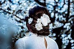 Ozdoby do vlasov - Sada drobných romantických vláseniek - 10 kusov - 10661819_