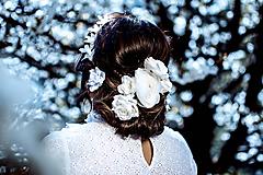 Ozdoby do vlasov - Sada drobných romantických vláseniek - 10 kusov - 10661822_