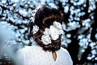 Ozdoby do vlasov - Sada väčších romantických vláseniek - 6 kusov - 10661849_