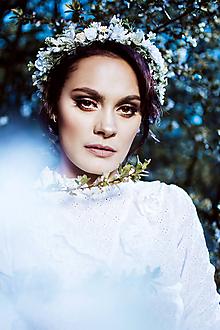 Ozdoby do vlasov - Romantický lúčny kvetinový venček - 10661909_