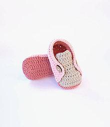 Topánočky - papučky (púdrovo ružové) - 10661691_